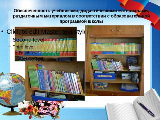 Обеспеченность учебниками, дидактическими материалами, раздаточным материалом...