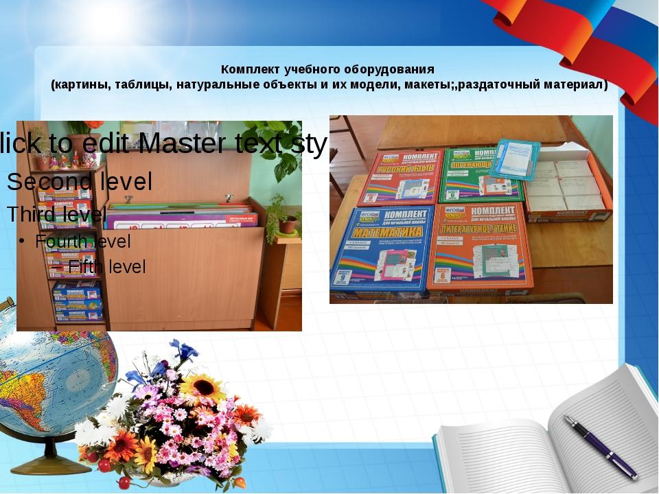 Комплект учебного оборудования (картины, таблицы, натуральные объекты и их м...