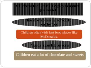 Children eat a lot of chocolate and sweets Teens miss PE lessons Children of