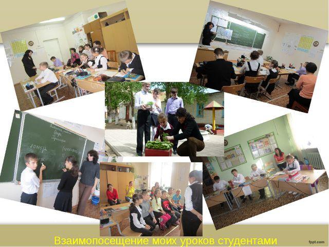 Взаимопосещение моих уроков студентами