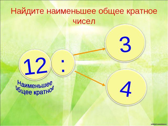 Найдите наименьшее общее кратное чисел ?