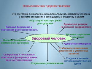 Это состояние психологического благополучия, комфорта человека в системе отн