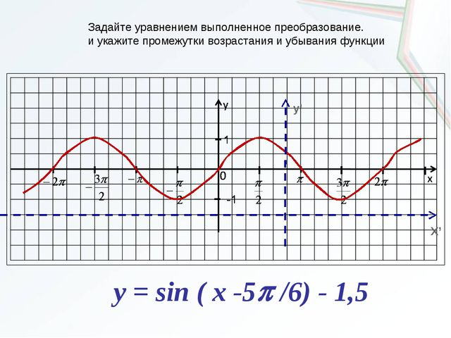 y' X' Задайте уравнением выполненное преобразование. и укажите промежутки воз...