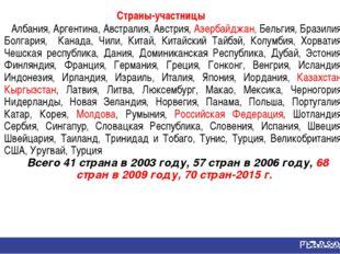 Страны-участницы Албания, Аргентина, Австралия, Австрия, Азербайджан, Бельгия