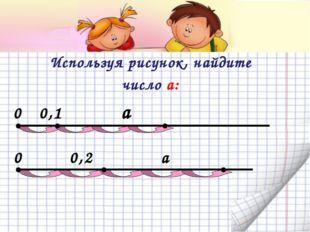 Используя рисунок, найдите число а: 0 0,1 a 0 0,2 a