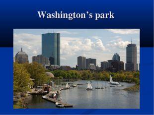 Washington's park