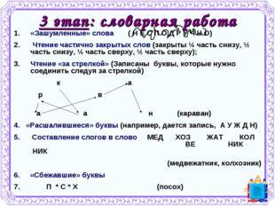 3 этап: словарная работа «Зашумленные» слова ( Н Е С П О Д Р У Ч Н О) Чтение