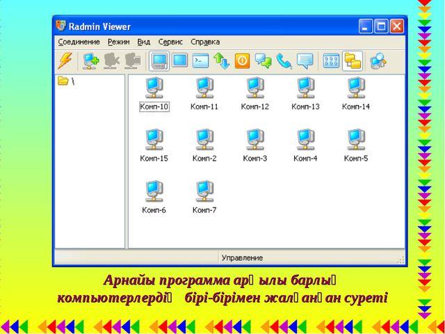 Арнайы программа арқылы барлық компьютерлердің бірі-бірімен жалғанған суреті