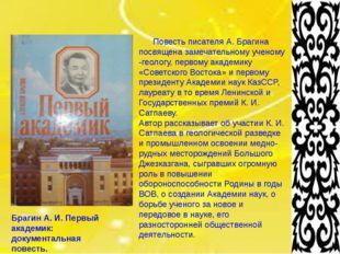 Брагин А. И. Первый академик: документальная повесть. Повесть писателя А. Бр