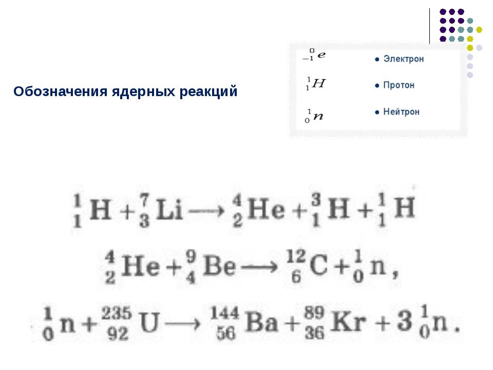 Обозначения ядерных реакций