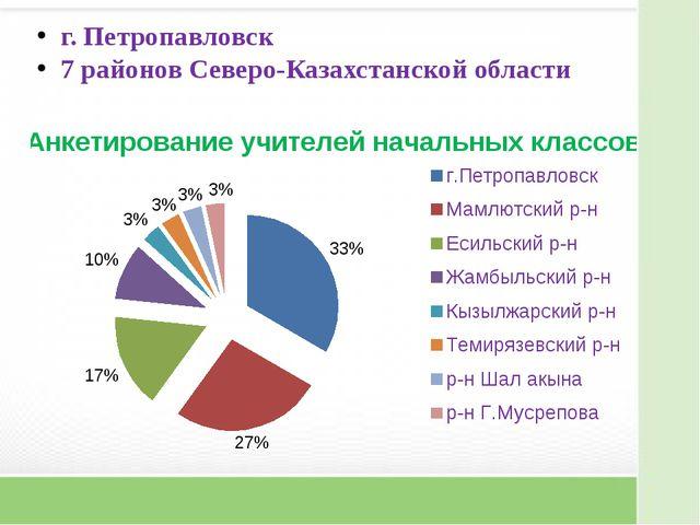 г. Петропавловск 7 районов Северо-Казахстанской области