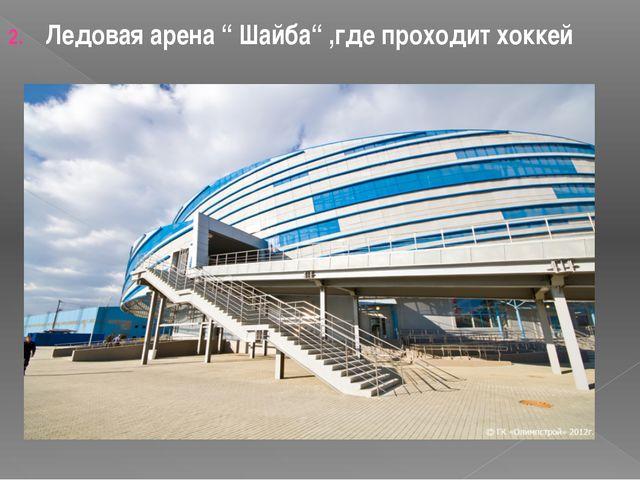 """Ледовая арена """" Шайба"""" ,где проходит хоккей"""