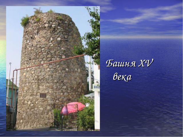 Башня XV века