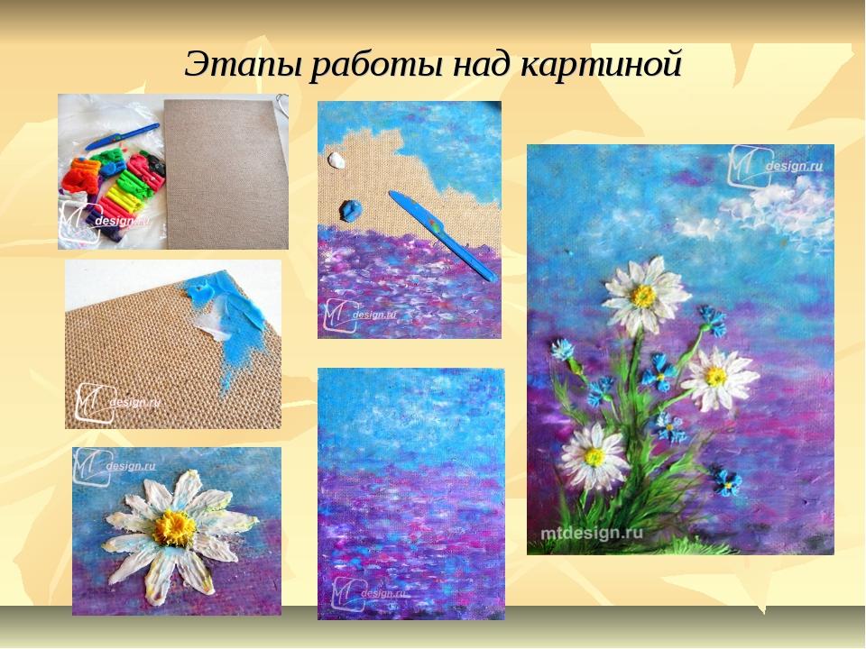 Этапы работы над картиной