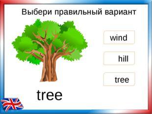 Выбери правильный вариант tree wind hill tree