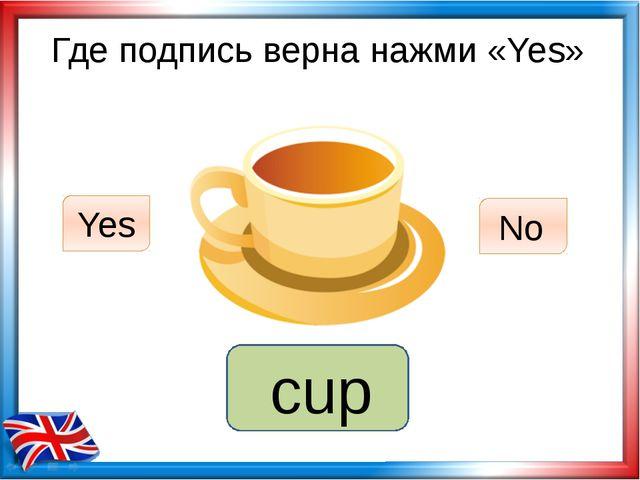 Где подпись верна нажми «Yes» mug Yes No cup