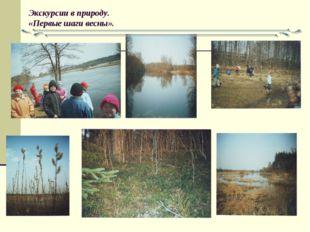 Экскурсии в природу. «Первые шаги весны».