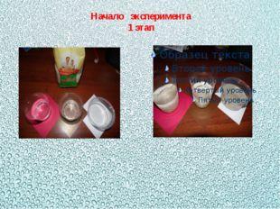 Начало эксперимента 1 этап