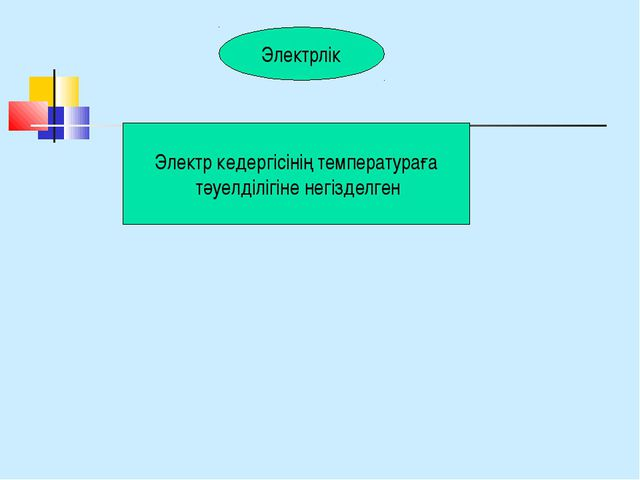 Электрлік Электр кедергісінің температураға тәуелділігіне негізделген