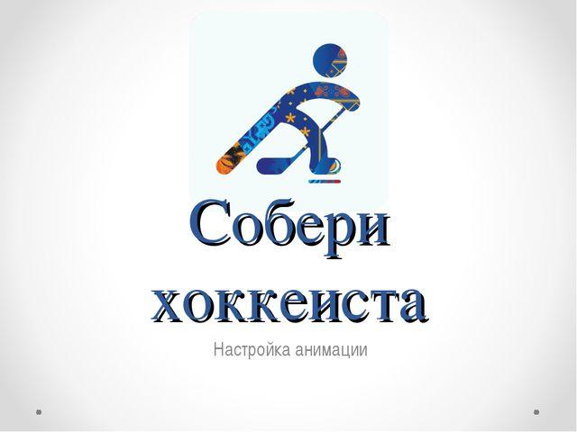 Собери хоккеиста Настройка анимации