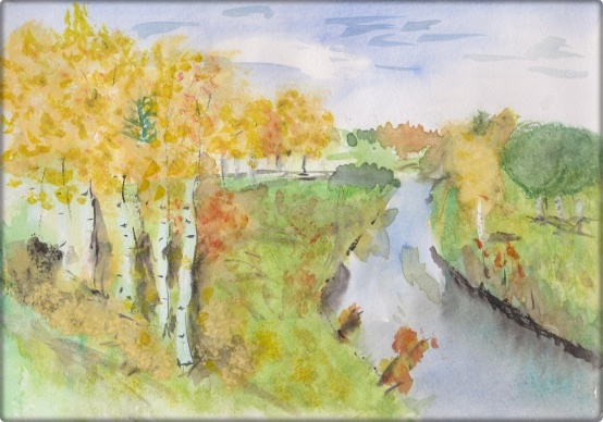 Тема дня «Золотая осень». Конспект НОД по рисованию пейзажа «Золотая осень» (с самоанализом)