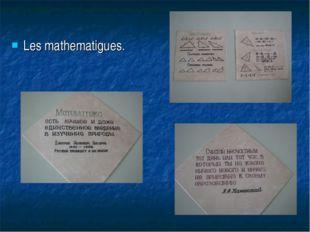 Les mathematigues.