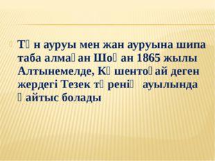 Тән ауруы мен жан ауруына шипа таба алмаған Шоқан 1865 жылы Алтынемелде, Көше