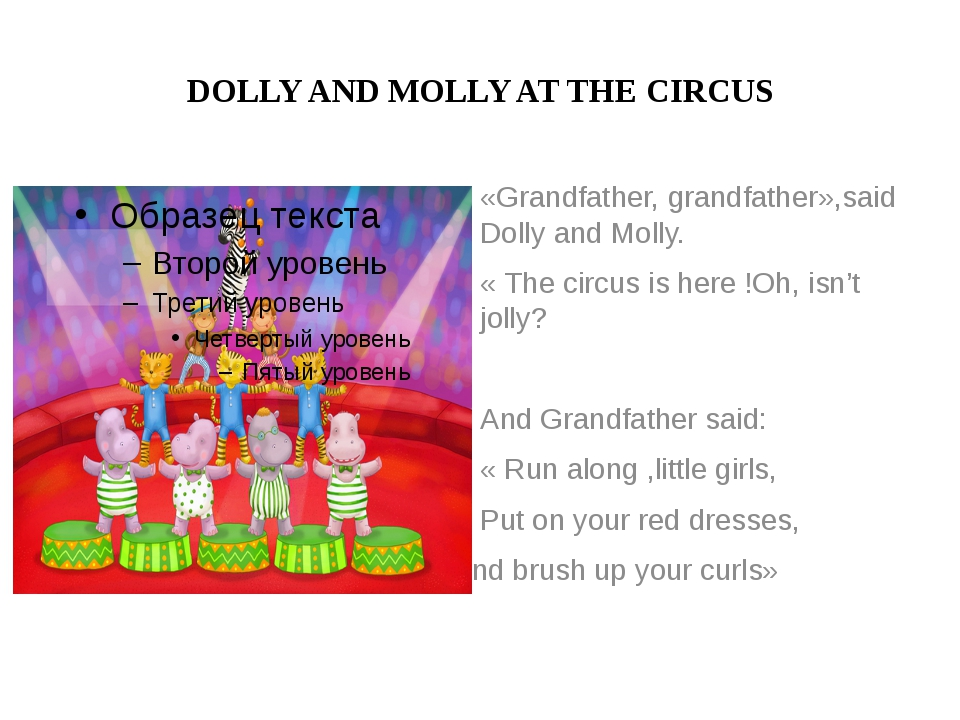 DOLLY AND MOLLY AT THE CIRCUS «Grandfather, grandfather»,said Dolly and Molly...