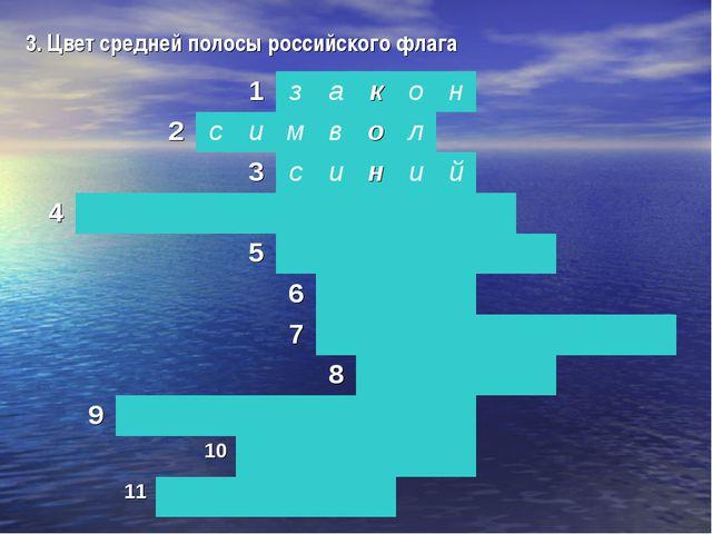3. Цвет средней полосы российского флага 1закон 2симво...