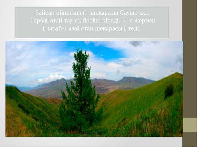 Зайсан ойпатының шекарасы Сауыр мен Тарбағатай тау жүйесіне кіреді. Бұл жерм...