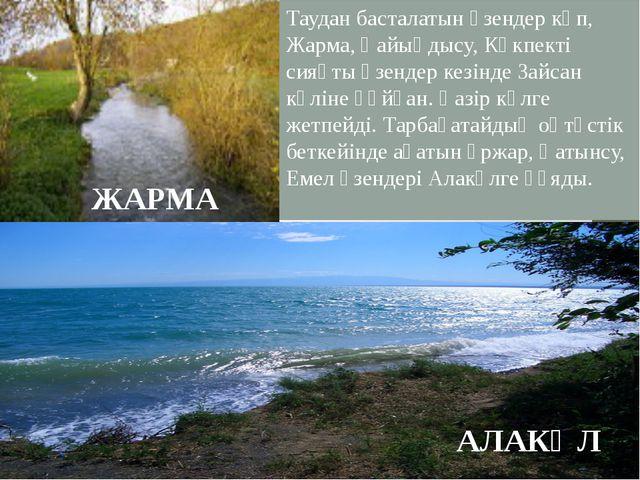 Таудан басталатын өзендер көп, Жарма, Қайыңдысу, Көкпекті сияқты өзендер кез...