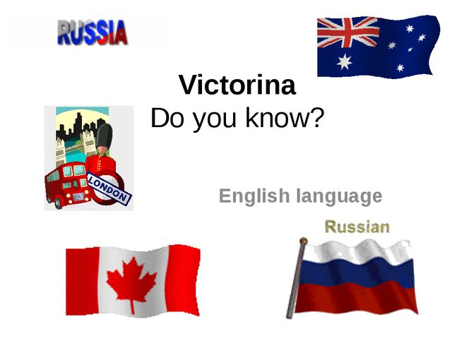 Victorina Do you know? English language