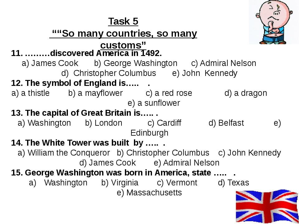 11. ………discovered America in 1492. a) James Cook b) George Washington c) Adm...