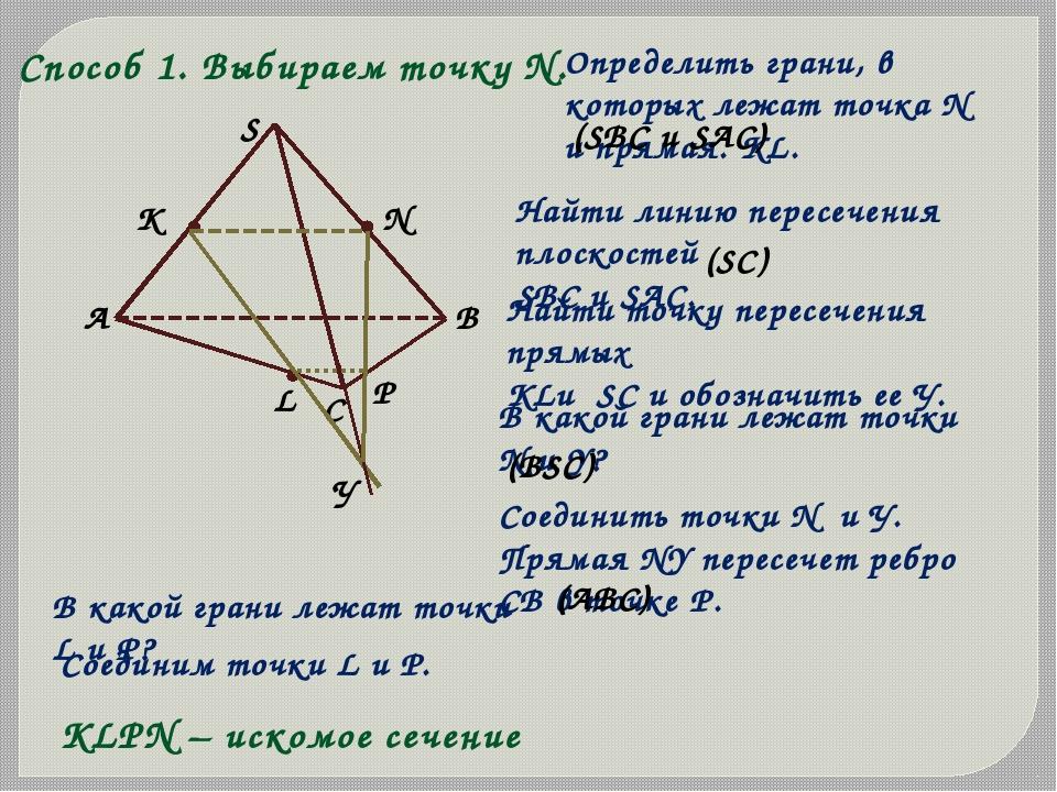 X Q На ребрах АВ, ВD, CD тетраэдра АВСD отмечены точки M, N, P. Постройте сеч...