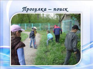 Прогулка – поиск