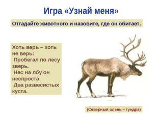 Отгадайте животного и назовите, где он обитает. Хоть верь – хоть не верь: Про
