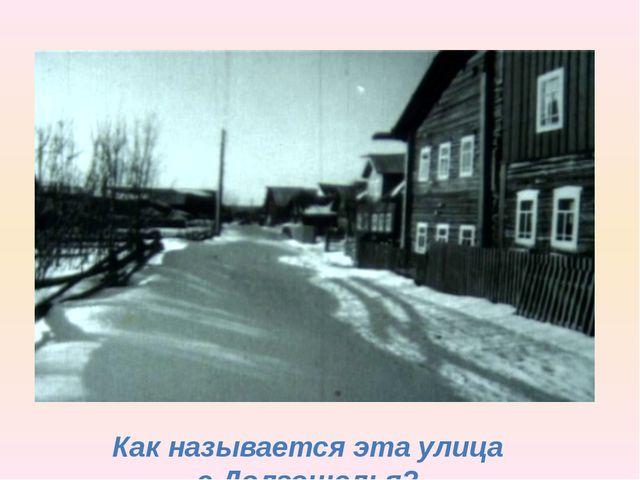 Как называется эта улица с.Долгощелья?