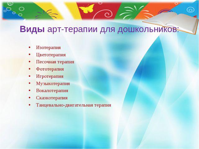 Видыарт-терапии для дошкольников: Изотерапия Цветотерапия Песочная терапия Ф...