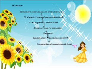 Нәтиже: Жетістікке жету жолын және тәсілін іздейді Оқиғаны, іс-әрекетті ретім