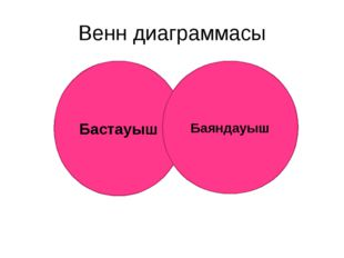 Венн диаграммасы Бастауыш Баяндауыш