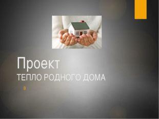 Проект ТЕПЛО РОДНОГО ДОМА В