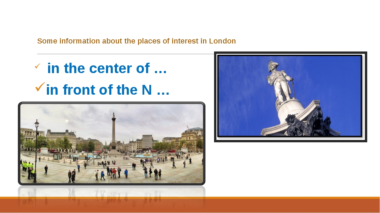 Some information about the places of interest in London in the center of … i...