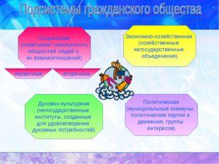 Экономико-хозяйственная (хозяйственные негосударственные объединения) Духовно