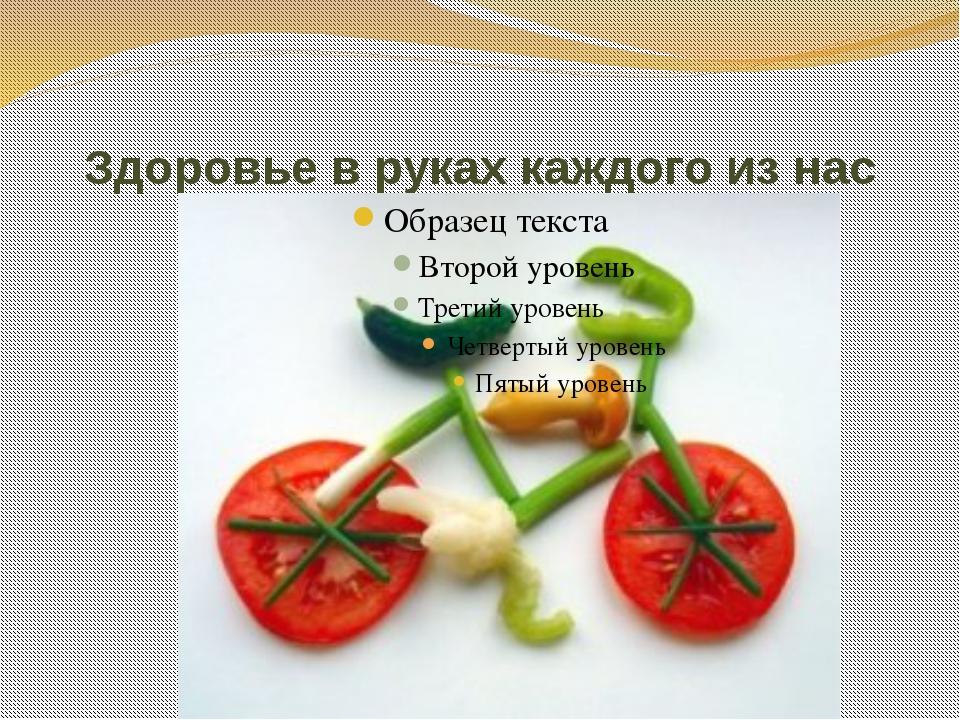 Здоровье в руках каждого из нас