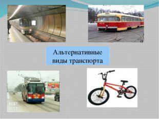 Альтернативные виды транспорта