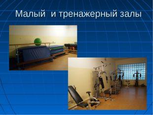 Малый и тренажерный залы