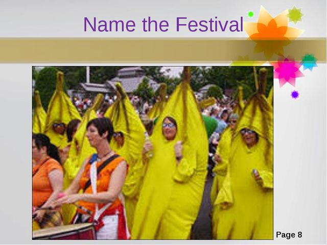 Name the Festival Page *