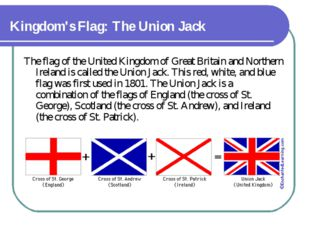 Kingdom's Flag: The Union Jack The flag of the United Kingdom of Great Brita
