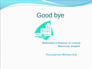 Good bye Руководитель: Шубенок И.Д.