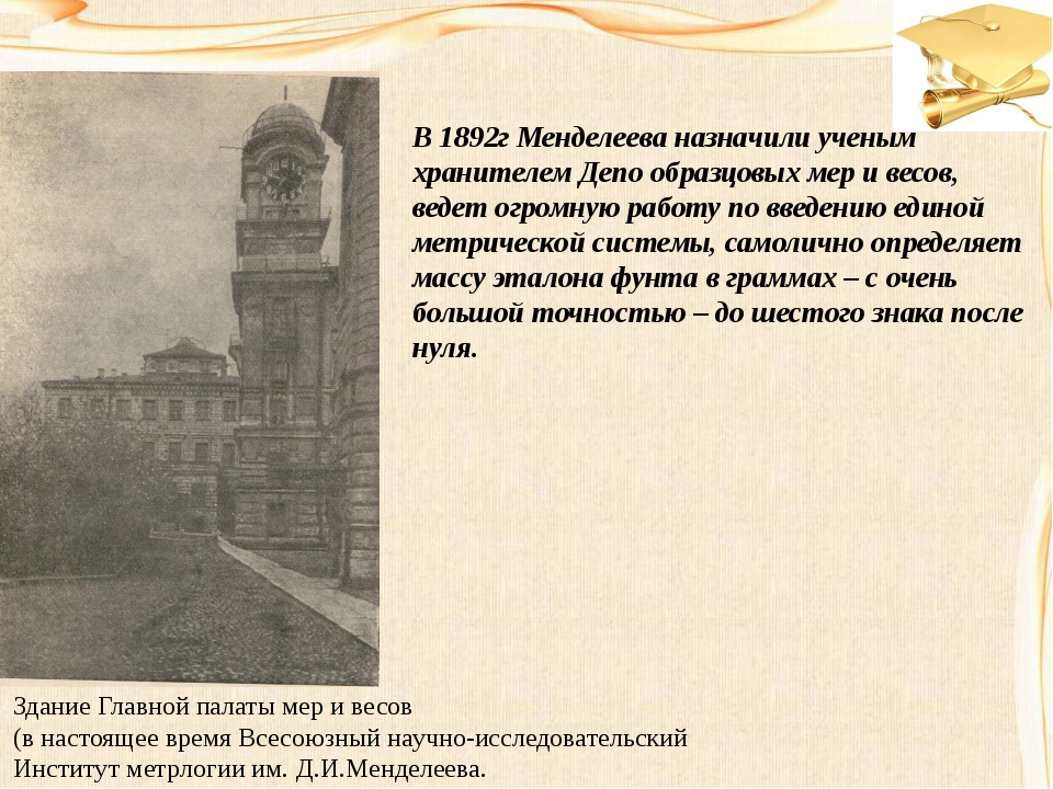 Здание Главной палаты мер и весов (в настоящее время Всесоюзный научно-исслед...